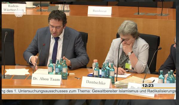 Claudia Dantschke als Expertin im 1. Untersuchungsausschuss des Bundestages zum Breitscheitplatz-Attentat